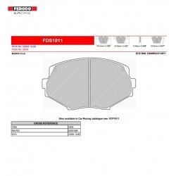 FERODO DS PERFORMANCE-Brake pads FDS1011