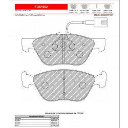 FERODO DS PERFORMANCE-Brake pads FDS1052